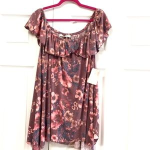 NEW A Beautiful Soul Altar'd State Floral Top $59